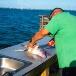 Cleaning fish in the Indian River Lagoon