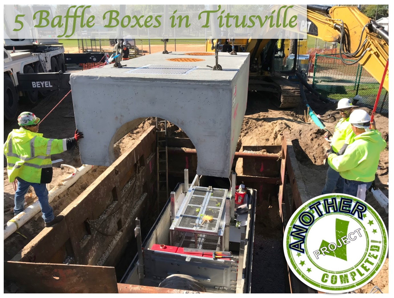 Baffle box projects in Titusville