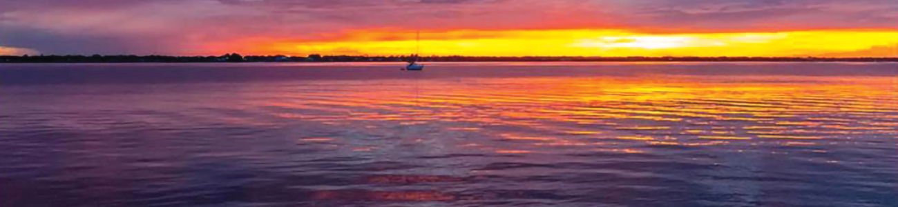 Sunset over the Indian River Lagoon